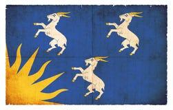 Σημαία Grunge Merionethshire Ουαλία Στοκ εικόνες με δικαίωμα ελεύθερης χρήσης