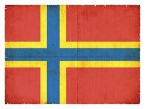 Σημαία Grunge Orkney των νησιών Μεγάλη Βρετανία Στοκ Εικόνες