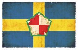 Σημαία Grunge Pembrokeshire Ουαλία Στοκ εικόνες με δικαίωμα ελεύθερης χρήσης