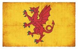 Σημαία Grunge Somerset Μεγάλη Βρετανία Στοκ Φωτογραφίες