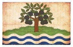 Σημαία Grunge Worcestershire Μεγάλη Βρετανία Στοκ φωτογραφία με δικαίωμα ελεύθερης χρήσης