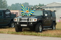 σημαία hummer ρωσικά πολεμικής  Στοκ φωτογραφία με δικαίωμα ελεύθερης χρήσης