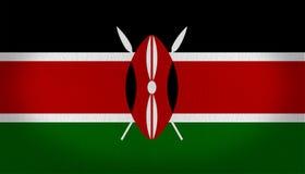 Σημαία Kenia Στοκ Φωτογραφία