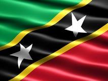 σημαία Kitts Nevis Άγιος Στοκ φωτογραφία με δικαίωμα ελεύθερης χρήσης