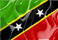 σημαία Kitts Nevis Άγιος ST απεικόνιση αποθεμάτων