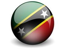 σημαία Kitts Nevis γύρω από το ST Στοκ εικόνα με δικαίωμα ελεύθερης χρήσης