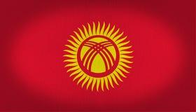 Σημαία Kyrgystan Στοκ εικόνα με δικαίωμα ελεύθερης χρήσης