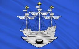 Σημαία Libourne, Γαλλία στοκ φωτογραφίες