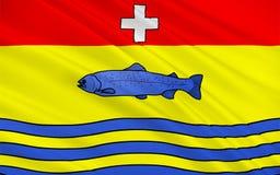 Σημαία Nantua, Γαλλία διανυσματική απεικόνιση