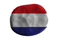 Σημαία Netherland, άργιλος σημαιών στο άσπρο υπόβαθρο Στοκ Εικόνα