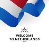 σημαία netherland διάνυσμα Στοκ εικόνα με δικαίωμα ελεύθερης χρήσης
