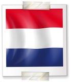 Σημαία Netherland σε τετραγωνικό χαρτί Στοκ φωτογραφίες με δικαίωμα ελεύθερης χρήσης
