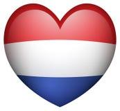 Σημαία Netherland στη μορφή καρδιών Στοκ φωτογραφία με δικαίωμα ελεύθερης χρήσης