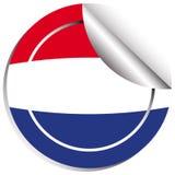Σημαία Netherland στο σχέδιο αυτοκόλλητων ετικεττών Στοκ Εικόνες