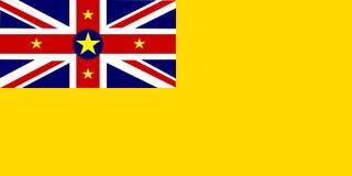 σημαία niue Στοκ Εικόνες