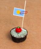 Σημαία Palau σε ένα cupcake Στοκ φωτογραφία με δικαίωμα ελεύθερης χρήσης