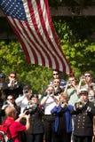 σημαία taps150 σαλπιγκτών εμείς στοκ φωτογραφία με δικαίωμα ελεύθερης χρήσης