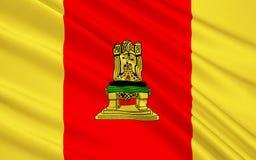 Σημαία Tver Oblast, Ρωσική Ομοσπονδία Διανυσματική απεικόνιση