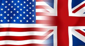 σημαία UK ΗΠΑ Στοκ Φωτογραφία