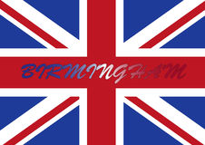 σημαία UK του Μπέρμιγχαμ ελεύθερη απεικόνιση δικαιώματος