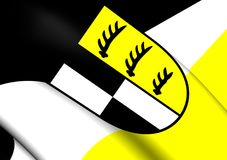 Σημαία Zollernalbkreis, Γερμανία Στοκ εικόνα με δικαίωμα ελεύθερης χρήσης