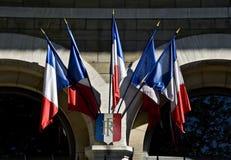 σημαίες γαλλικά Στοκ φωτογραφία με δικαίωμα ελεύθερης χρήσης