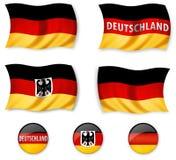 σημαίες γερμανικά Στοκ Εικόνες