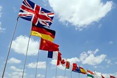 σημαίες διεθνείς Στοκ φωτογραφία με δικαίωμα ελεύθερης χρήσης