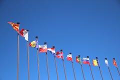 σημαίες διεθνείς Στοκ Φωτογραφία