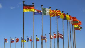 σημαίες διεθνείς Στοκ Εικόνες