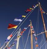 Σημαίες ιστών Στοκ Φωτογραφία