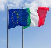 σημαίες Ιταλία της Ευρώπης Στοκ Εικόνες