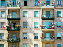 σημαίες ιταλικά Στοκ φωτογραφία με δικαίωμα ελεύθερης χρήσης
