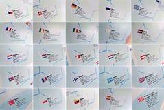 Σημαίες και λεπτομέρειες χωρών Στοκ φωτογραφίες με δικαίωμα ελεύθερης χρήσης