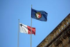 σημαίες Μάλτα Στοκ εικόνα με δικαίωμα ελεύθερης χρήσης