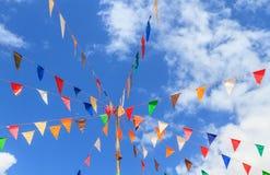 Σημαίες με το μπλε ουρανό Στοκ Εικόνες