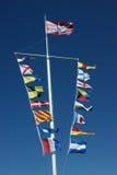 σημαίες ναυτικές Στοκ φωτογραφία με δικαίωμα ελεύθερης χρήσης