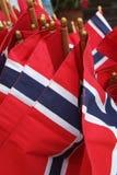 σημαίες νορβηγικά Στοκ Φωτογραφία