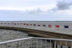Σημαίες πέρα από Kattegat το στενό Στοκ Φωτογραφίες