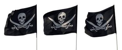 Σημαίες πειρατών που απομονώνονται Στοκ Εικόνα