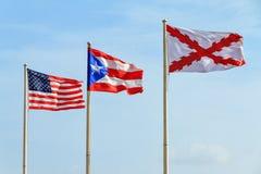 Σημαίες Πουέρτο Ρίκο Στοκ Εικόνα