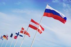 σημαίες που ενώνονται Στοκ Εικόνες
