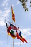 Σημαίες που ρέουν στο αεράκι Στοκ Φωτογραφία