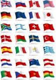 σημαίες που τίθενται Στοκ Εικόνα