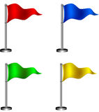 σημαίες που τίθενται Στοκ Φωτογραφίες