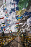 Σημαίες προσευχής - Θιβέτ - Κίνα Στοκ Φωτογραφία