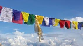 Σημαίες προσευχής χρώματος Στοκ Φωτογραφίες