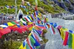 Σημαίες προσευχής Στοκ φωτογραφία με δικαίωμα ελεύθερης χρήσης