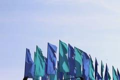 Σημαίες σε μια υπαίθρια έκθεση Στοκ Φωτογραφία
