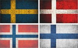 σημαίες Σκανδιναβία διανυσματική απεικόνιση